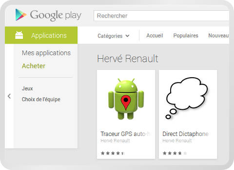 copie d'écran Google Play