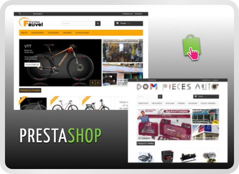 copie d'écran sites Prestashop